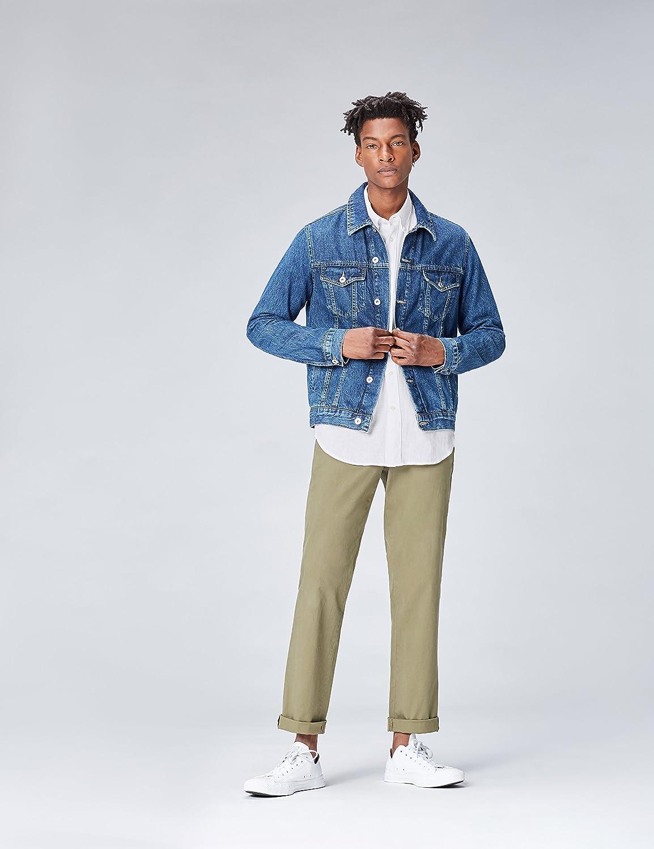 Marchio find - Regular Linen Camicia Uomo