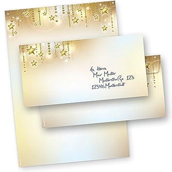 Briefbogen Weihnachten STARDREAMS (100 Sets ohne Fenster) DIN A4 90g ...