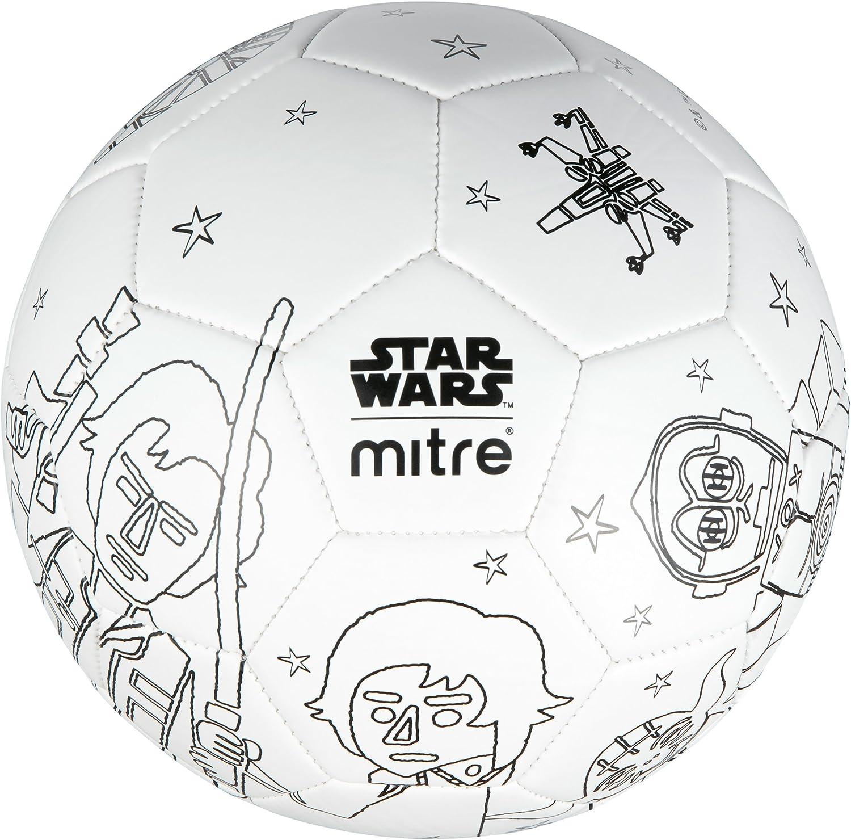 Mitre FootBall Star Wars ScriballBB8 Mini Football Colour In 5 Markers /& Pump