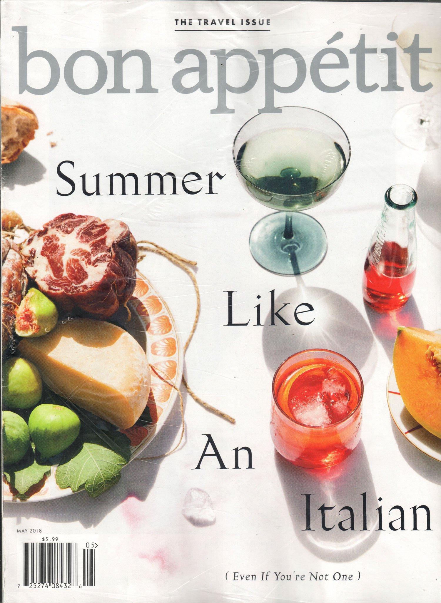 Bon Appetit Magazine May 2018 Summer Like An Italian Amazon Com Books
