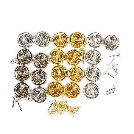 Gydandir 180 Paar 3 Farben Butterfly Clutch Metall Pin Backs Ersatz mit Blank Pins Butterfly Cap mit Pferd Dorn Nadel f/ür Handwerk machen