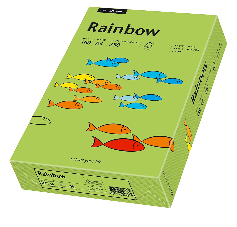 Buntpapier: Rainbow 160 g//m/² Papyrus 88042351 Drucker-//Kopierpapier farbig 250 Blatt gelb matt A4