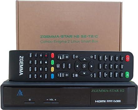 ZGEMMA STAR H2 Combo Receptor De TV FTA Linux OS DVB-S2+ DVB-T2/C Dos Sintonizadores/Decodificador