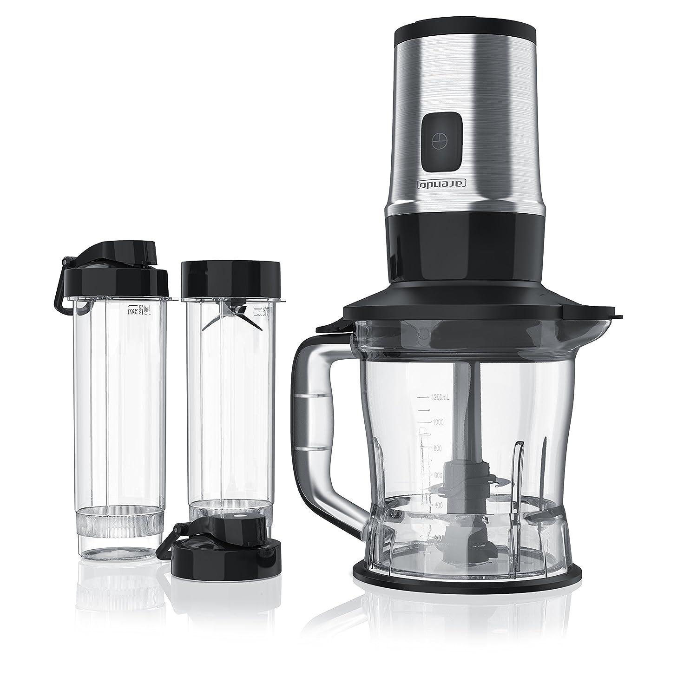 Arendo - Batidora de Vaso 2en1 Mixer   Smoothiemaker   Capacidad 1, 2l Incl. 2X 0, 57l envases   700W   Liquidador lavavajillas Seguro   Sin BPA: Amazon.es