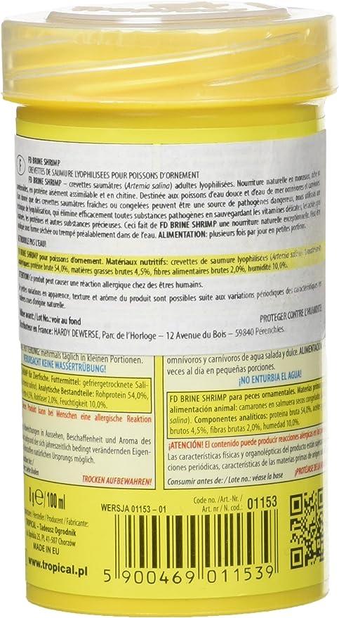 Tropical FD Brine Shrimp Comida para acuariofilia 100 ml ...