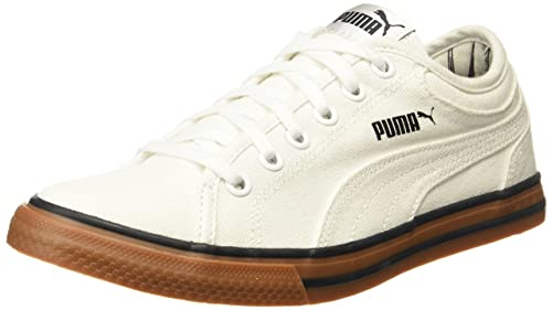 e736e0be1fe693 Puma Unisex Yale Gum Solid IDP Puma White-Puma Black Sneakers - 10 UK