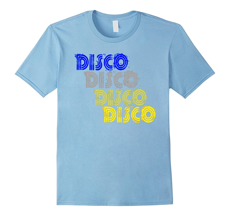 Disco 1970s Style Repeat Tshirt Vintage Retro Neon Light Tee-FL