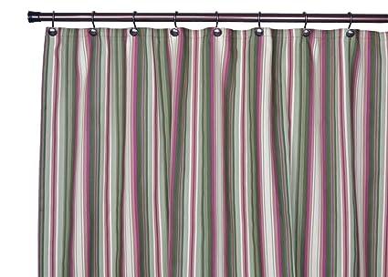 Ellis Curtain Montego Stripe Bathroom Shower Green