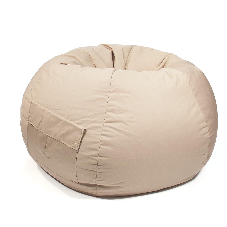 Prime Gold Medal Bean Bags 31008484905 Small Denim Bean Bag With Pocket For Children Khaki Andrewgaddart Wooden Chair Designs For Living Room Andrewgaddartcom