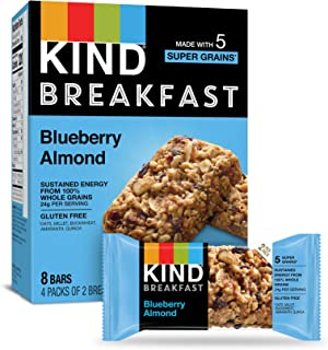 product image for KIND Breakfast Bars, Gluten Free, Blueberry Almond, 1.8oz (Pack of 32)