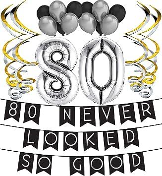 Paquete de Cumpleaños 80 Never Look So Good - Banderines de ...