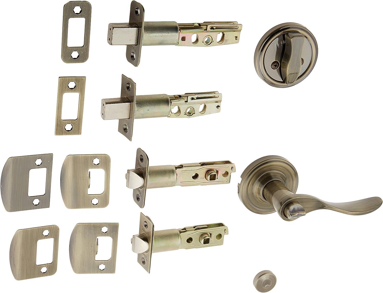Weslock R1300 Uasl20 Lexington 1300 Series Entry Handle Antique Brass Doorknobs Amazon Com