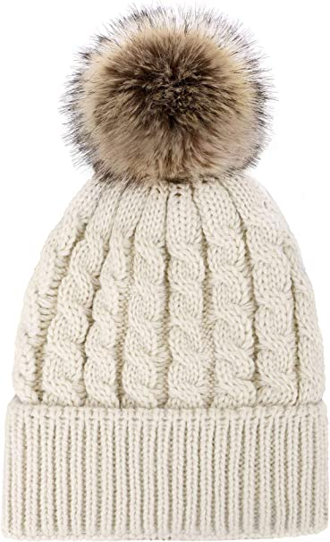 beanie knit hat super bulky beanie SALE!! Shaughnessy Hat Hand knit faux fur pompom hat knit beanie womens beanie adult beanie