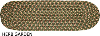 product image for Rhody Rug Ellsworth Indoor/Outdoor Reversible Braided Stair Treads (8 inch x 28 inch)(Set of 4) - 1'10 x 2'10 Green/Beige