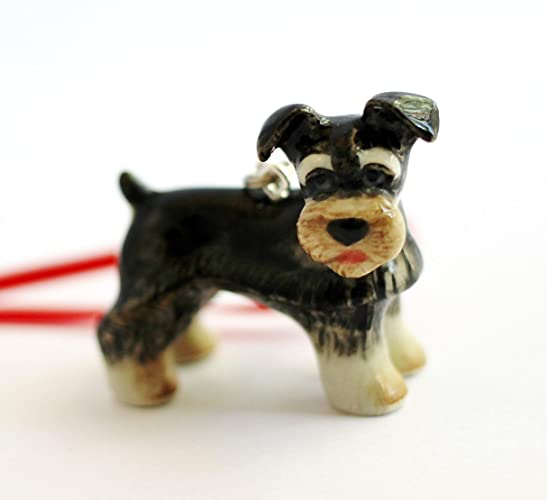 Schnauzer Dog Christmas Ornament Small Tree Decor Porcelain Animal Charm - Amazon.com: Schnauzer Dog Christmas Ornament Small Tree Decor