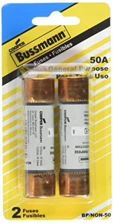 BUSSMANN FUSES BP/NON-50 250V K5 One-Time 50 Amp Low-Voltage Cartridge Fuse