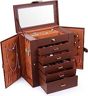 Kendal Huge Leather Jewelry Box/Case/Storage LJC-SHD5BK (Black)