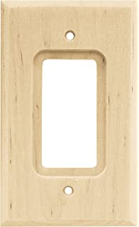brainerd wood square single decorator wall plate switch plate cover unfinished
