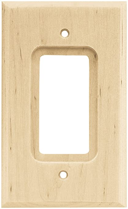 Brainerd 64668 Wood Square Single Decorator Wall Plate / Switch ...