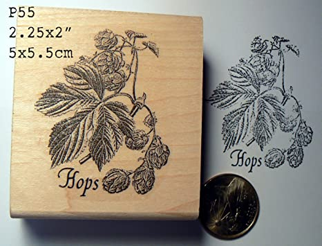 Hops rubber stamp WM P55