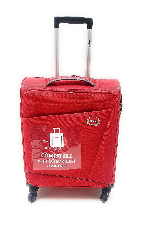 Trolley Clacson cm Blu 55 x 40 x 20 Bagaglio a mano 4 Ruote Semirigido Impermeabile Idoneo Low Cost Ryanair