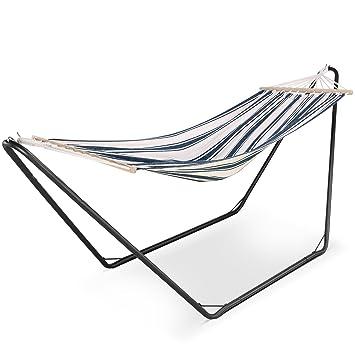 vonhaus hammock with metal frame   luxury standing swinging hammock for outdoor garden and patio vonhaus hammock with metal frame   luxury standing swinging      rh   amazon co uk