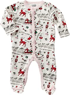 30feb84772ed Amazon.com  Mud Pie Unisex Very Merry Sleeper (Infant)  Clothing