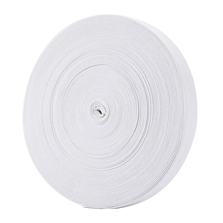 Hicarer 3/4 Inch Wide Sewing Elastic Bands Elastic Spools 21.5 Yards (Black)