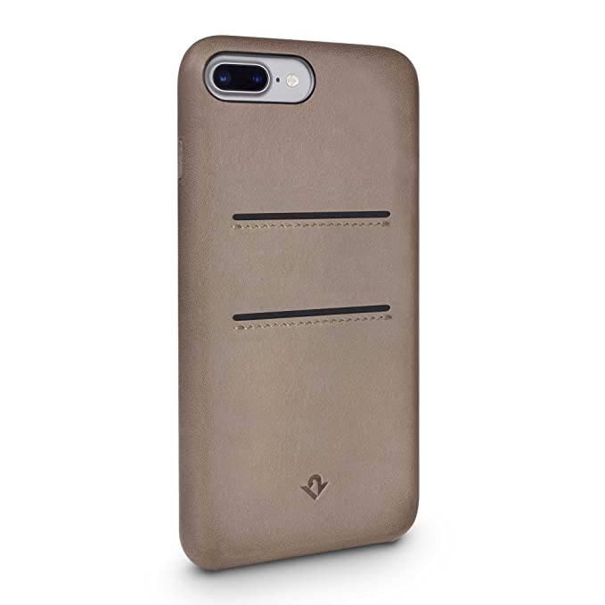 check out 0dab1 2c927 Twelve South Relaxed Leather Case for iPhone 8 Plus/ 7 Plus/ 6 Plus | Hand  Burnished Leather Wallet Shell (warm taupe)