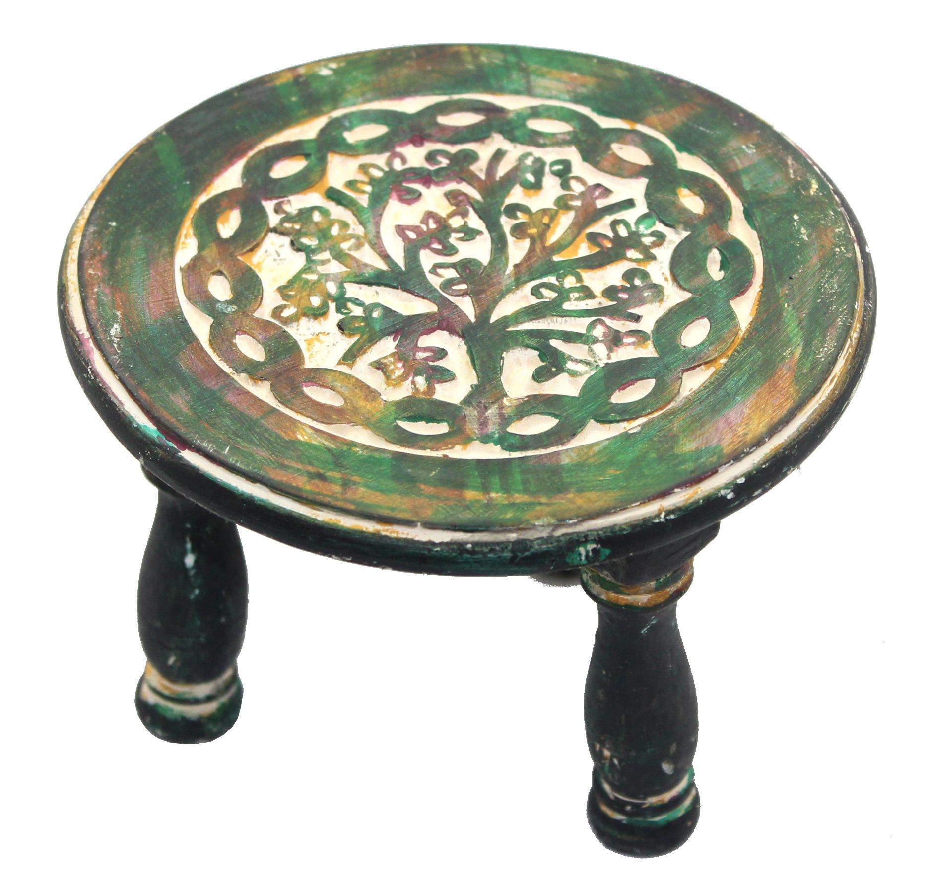 Govinda Round Tree of Life Altar Table 6 Inch Diameter