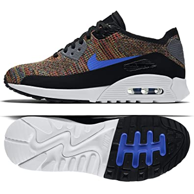 buy online e280d f82f4 NIKE W Air Max 90 Ultra 2.0 Flyknit 881109-001 Black Blue Grey