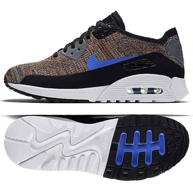 e853a8b905 Amazon.com | NIKE W Air Max 90 Ultra 2.0 Flyknit 881109-001 Black/Blue/Grey Women's  Shoes (Size 11) | Fashion Sneakers