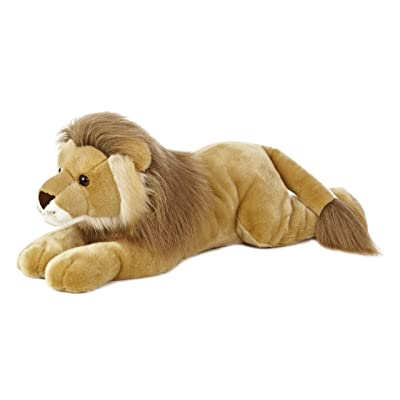 "Aurora World Super Flopsie Leo Lion Plush, 27"" Long: Toys & Games"
