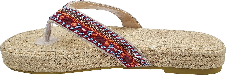 Sandalias Boho con Suela de Cuerda de Yute para Mujer.