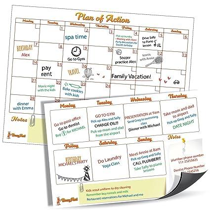 Pizarra Calendario: Amazon.es: Oficina y papelería