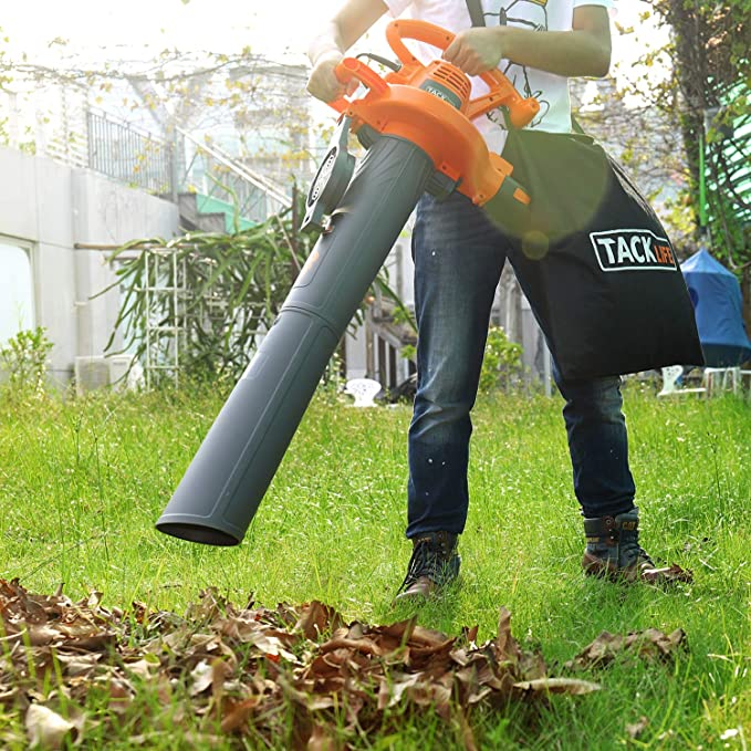 Aspirador, soplador eléctrico TACKLIFE 3000 W, saco archivador de 45, potencia de succión de 15 m³/min, 3-in-1 (para hojas, ventilador, soplador), velocidad de aire variable hasta a 315 ~ 380 km/H- gbv01b: Amazon.es: Jardín
