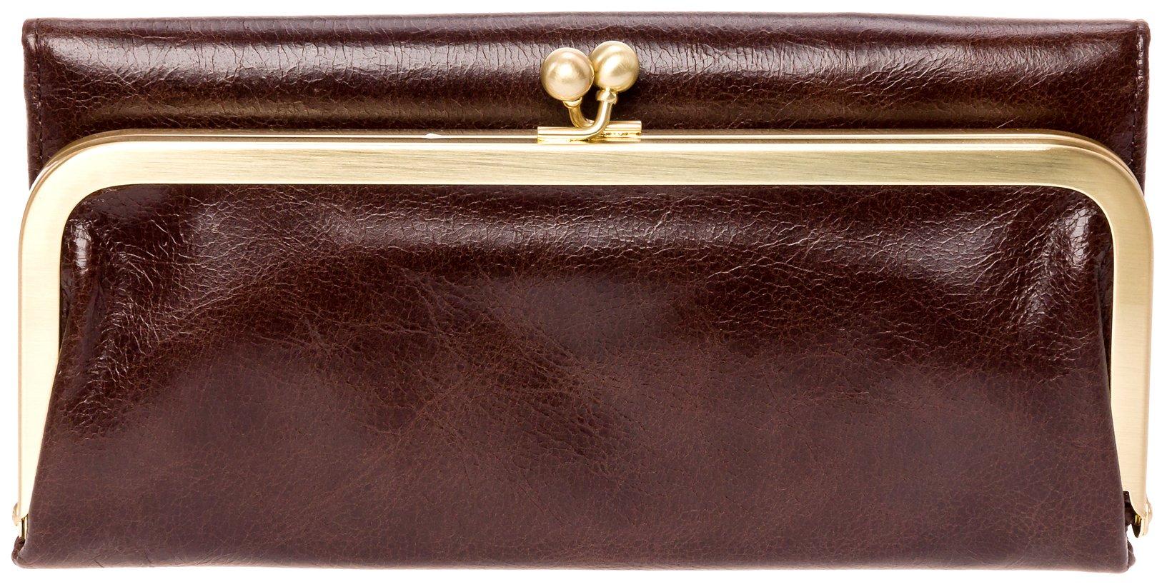 Hobo Womens Rachel Vintage Wallet Leather Clutch Purse (Espresso)