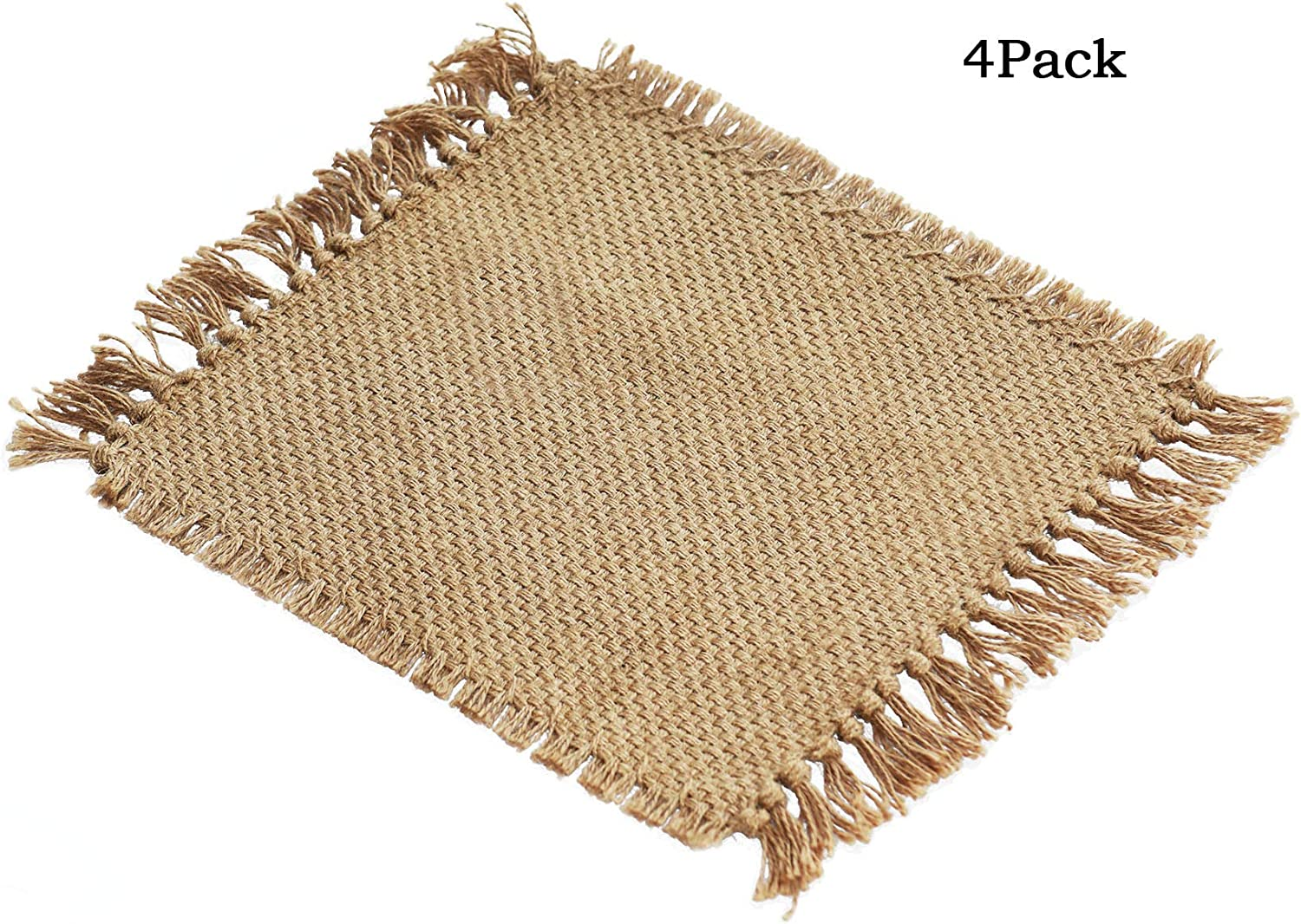 Home·FSN Placemats Set of 4, 100% Jute 12 X 17 Inches Table Mats for Dining Tables, Wedding, Parties, BBQ's, Everyday, Holidays