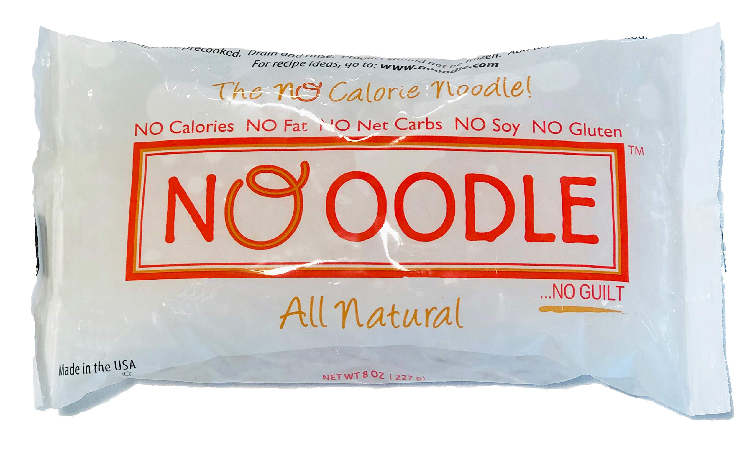 NOoodle No Carb Pasta, Noodle Alternative, Zero Calories, Gluten Free, Keto Friendly, Best Tasting Shirataki Noodles (Angel Hair, 12-pack) by NO OODLE