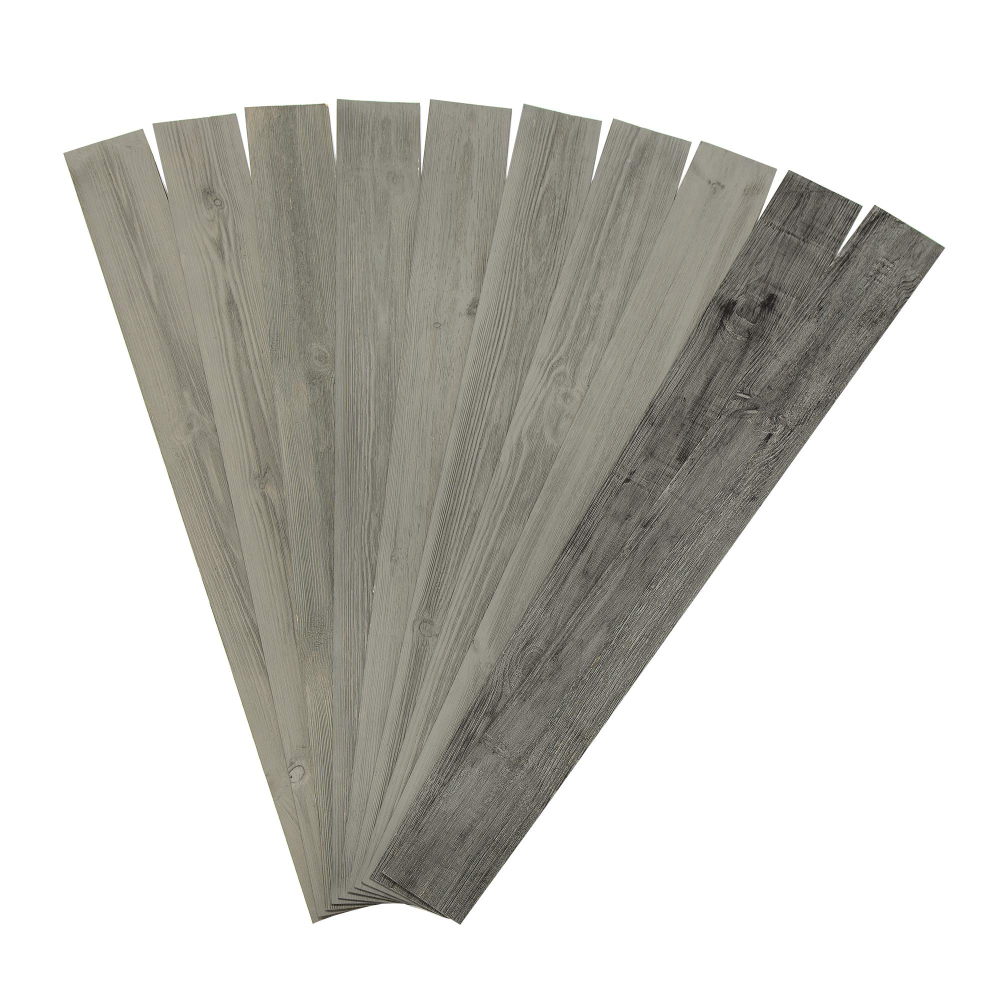 Rustic Grove Wood Planks (Mixed Gray-Dark)