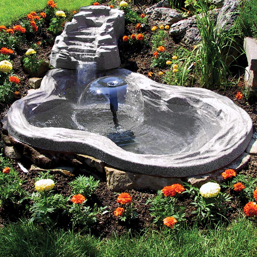 Algreen 91959 Tranquility Water Fall for Water Gardens and Ponds,Charcoalstone by Algreen