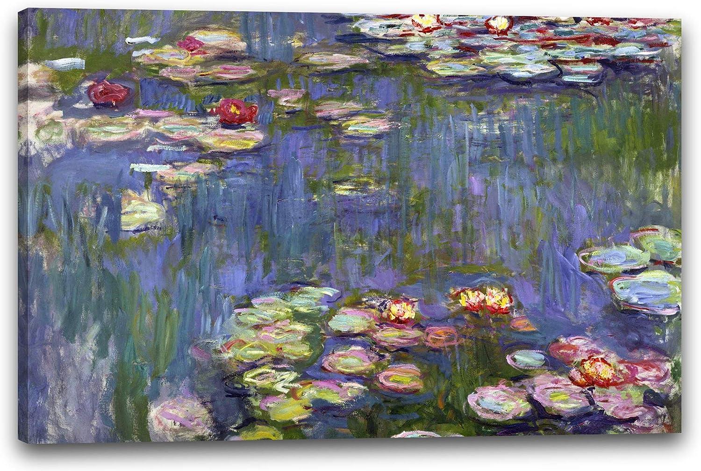 Impresión sobre lienzo (120x80cm): Claude Monet - Nenúfares