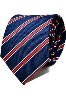 Oxford Collection Corbata de hombre Rojo a Rayas 100% Seda