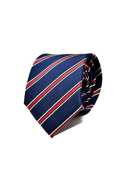 Oxford Collection Corbata de hombre Azul y Rojo a Rayas