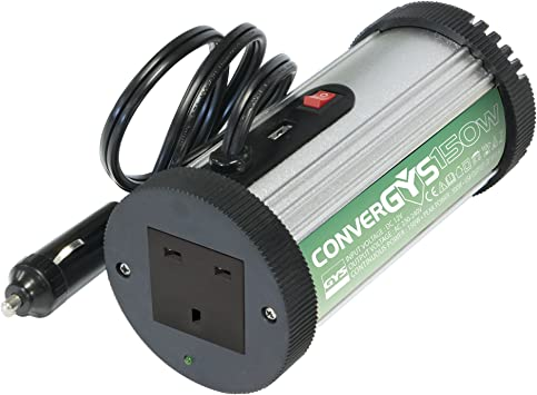 GYS Convergys 150 12-240V 150W Power Inverter with 3-Pin Plug Socket and USB Port