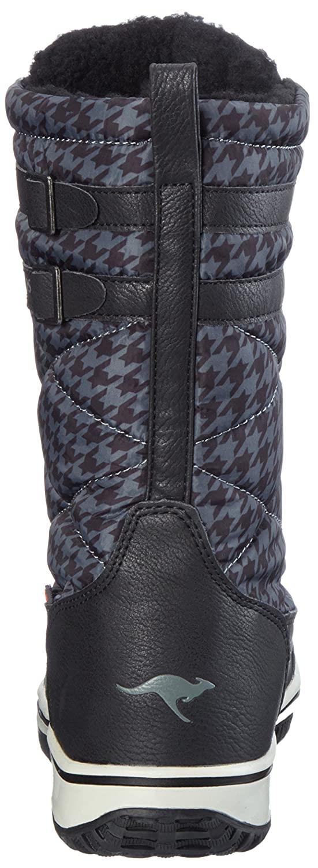 Stiefeletten Schuhe Damen Winter Kunst Fell gefuttert Boots 5014 Schwarz 38