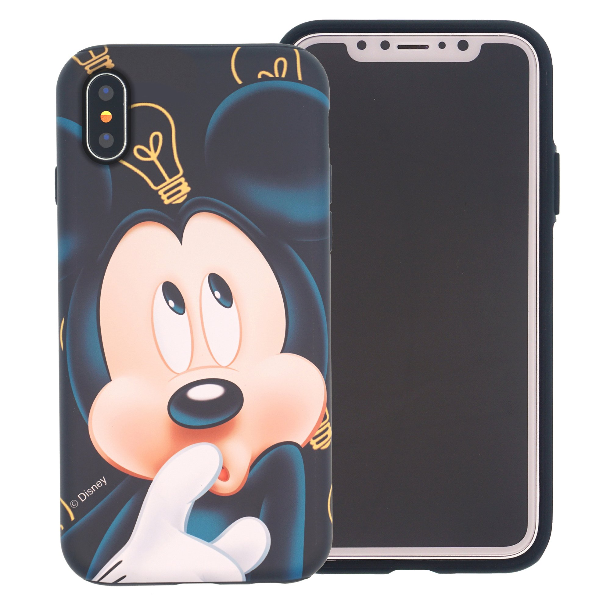 iPhone Xs/iPhone X Case [Heavy Drop Protection] Cute Mickey Mouse Layered Hybrid [TPU + PC] Bumper Cover for [ iPhone Xs/iPhone X (5.8inch) ] - Idea Mickey Mouse by WiLLBee