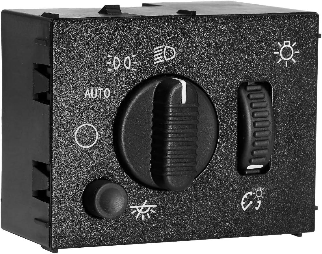 D1595G for 2003-2007 Chevy Silverado Suburban Tahoe Avalanche GMC Sierra Yukon Cadillac Escalade Headlight Switch Headlamp Dimmer Switch Replaces# 19381535 15194803