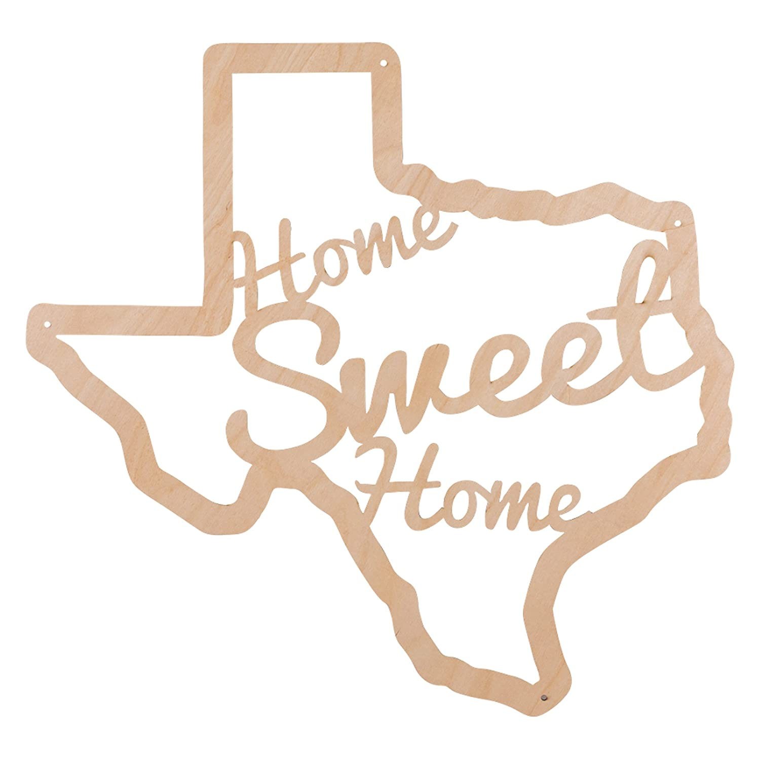 Beer Cap Traps Home Sweet Home Texas Wooden Wall Decor Sign