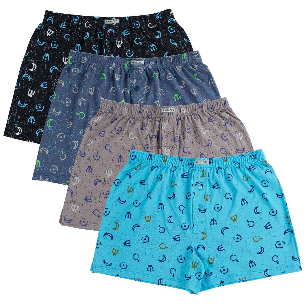 Knitlord UNDERWEAR メンズ B07875MLRF 4L Moon Printing/ 4 Colors Moon Printing/ 4 Colors 4L